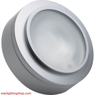 Zeepuk 1 Lamp Xenon Puk Light In Stainless Steel With Frosted Glass