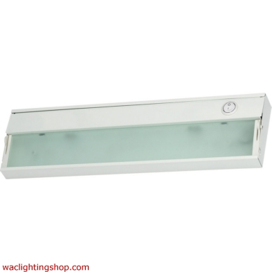 Zeeline 1 Lamp Xenon Cabinet Light In White With Diffused Glass