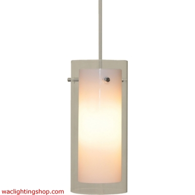Pendants - 1 Light Pendant In Chrome And White Glass 6681PS/30