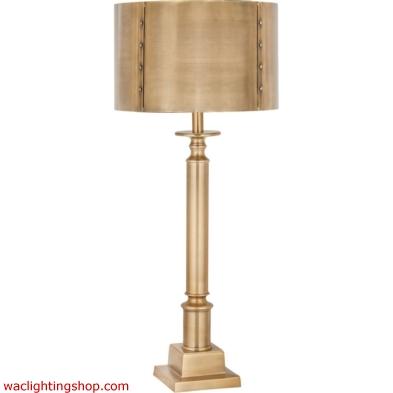 Gazette 1 Light Table Lamp In Antique Brass