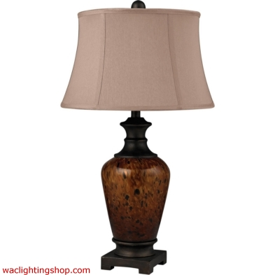 Redding Tortoise Glass Table Lamp in Dark Bronze