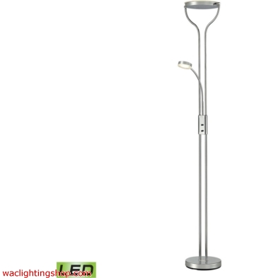 Massena Floor Lamp In Polished Chrome And Frosted Glass