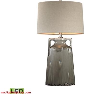 Grey Reaction Glaze LED Urn Lamp