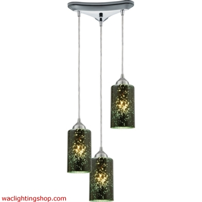 Illusions 3 Light Pendant In Polished Chrome 10504/3