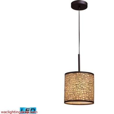 Medina 1 Light LED Pendant In Aged Bronze