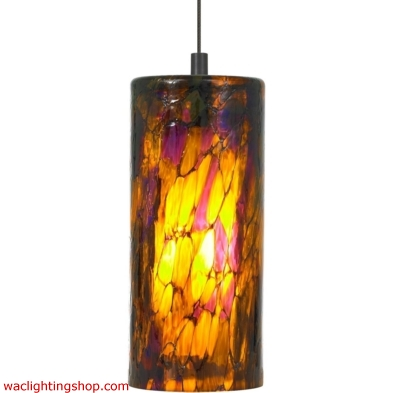 Abbey Pendant - Amber Purple