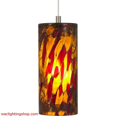 Abbey Pendant - Amber Red - LED