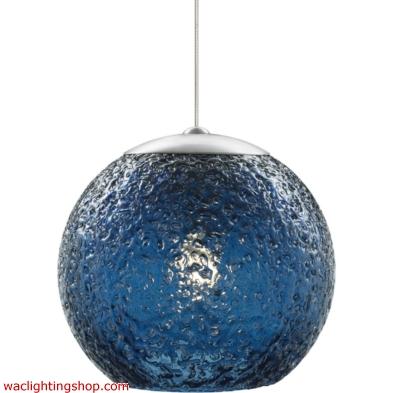 Mini Rock Candy Round Pendant - Steel Blue