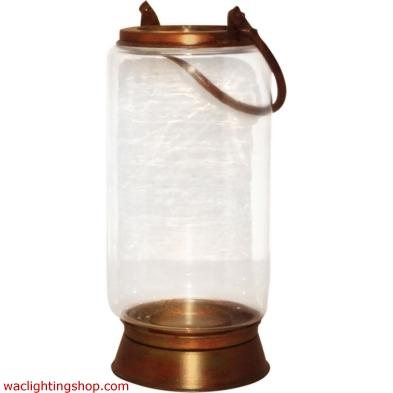 Taos Large Lantern In Burned Copper