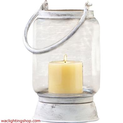 Taos Small Lantern In Antique White