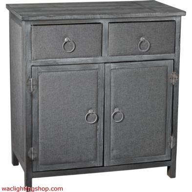 Restoration - Grey Linen Covered Cabinet