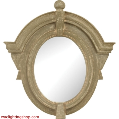 Parisian Dormer Mirror In Warm White