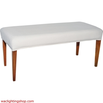 Couture Covers Double Bench Cover - Pure White