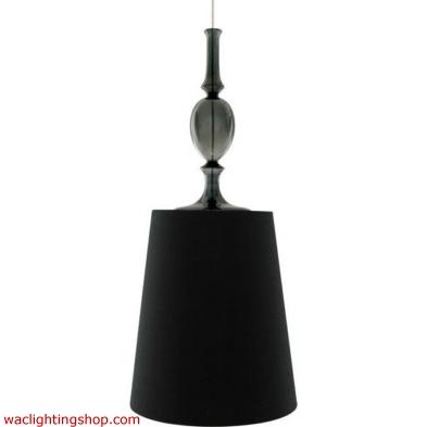 Kiev Large Pendant - Black Shade - Clear Fount